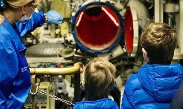 Экскурсия на подводную лодку, 5-6 лет